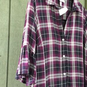 Maternity Top- Plaid Tunic Top 🎆